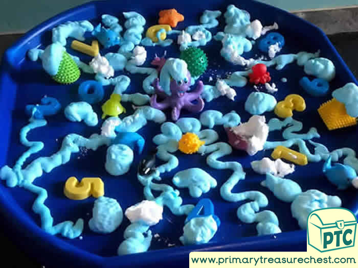 Crazy Soap UNDER THE SEA Octopus Tuff Tray -EYFS Children
