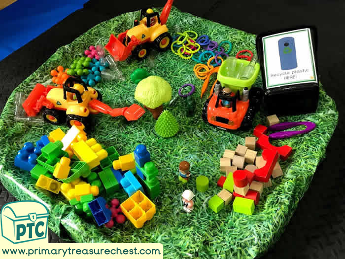 World Environment Day Area tuff tray idea