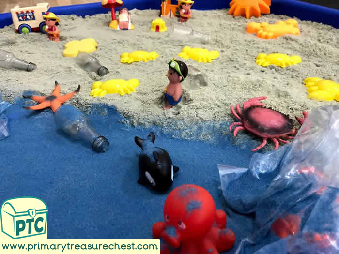 World Environment Day Sand Play tuff tray idea
