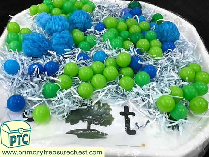 World Environment Day Sensory tuff tray idea