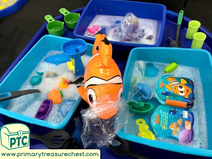 Environment Day Water Play tuff tray idea
