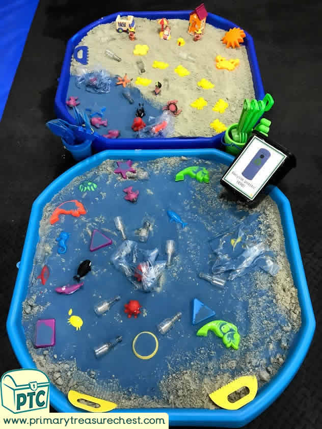 World Environment Day creative sand play tuff tray idea