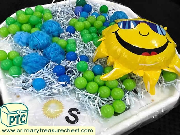 World Environment Day tuff tray idea