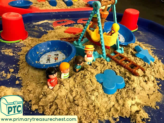 Fairground  Pirate Ship Sand Play - Role Play  Sensory Play - Tuff Tray Ideas Early Years – Tuff Spot / Nursery / Primary
