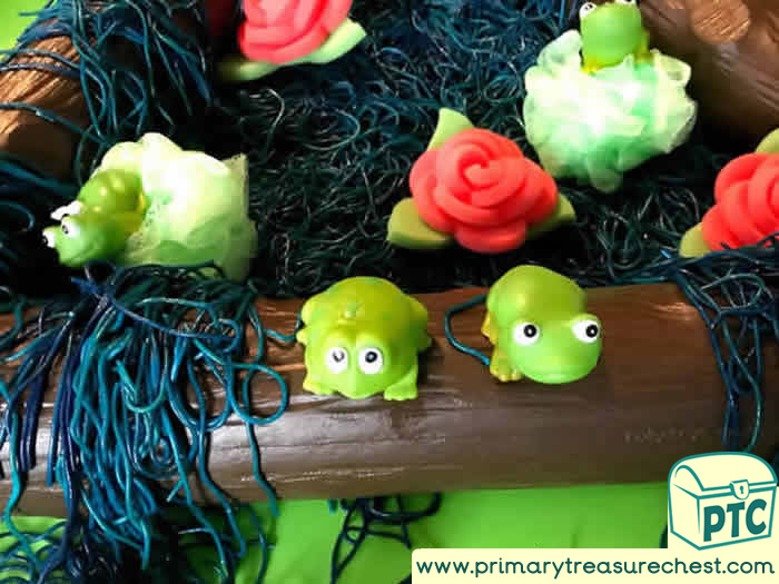 Fairies & frogs spaghetti Themed Tuff Tray for Toddlers-EYFS Children
