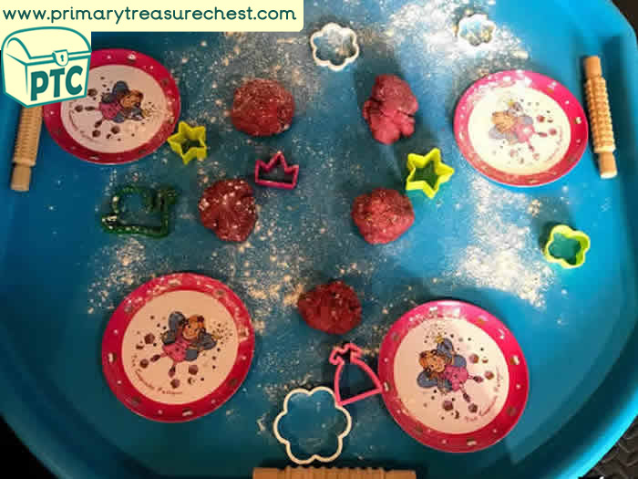 Fairies playdough Themed Tuff Tray for Toddlers-EYFS Children