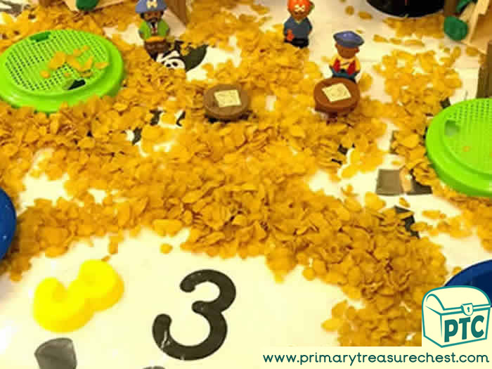Pirates Numbers Small World Play - Role Play  Sensory Play - Tuff Tray Ideas Early Years / Nursery / Primary