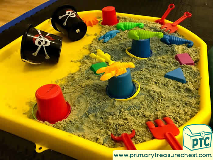 Pirate Sand Play - Role Play  Sensory Play - Tuff Tray Ideas Early Years – Tuff Spot / Nursery / Primary