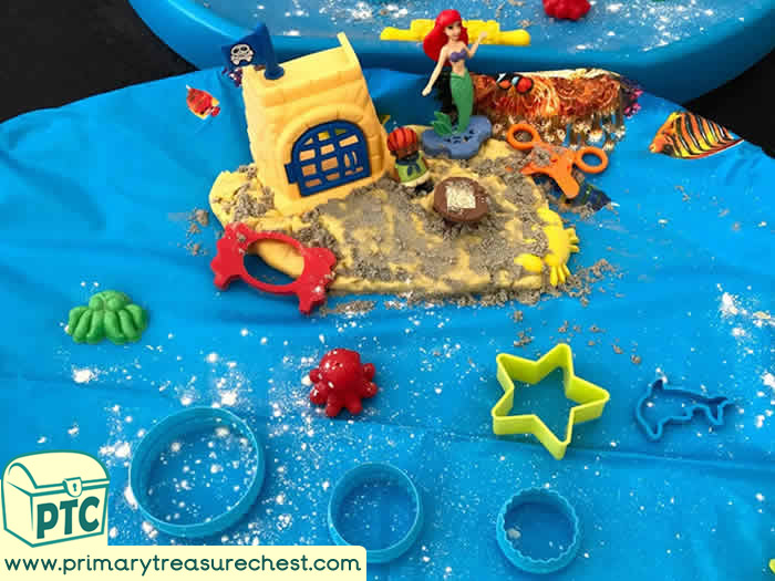 Pirates Themed sensory sand themed play dough - Role Play  Sensory Play - Tuff Tray Ideas Early Years – Tuff Spot / Nursery / Primary