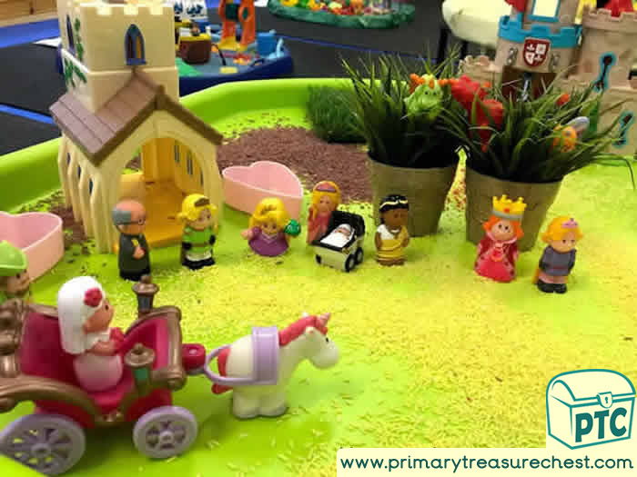 Princesses Wedding Small World Play - Role Play  Sensory Play - Tuff Tray Ideas Early Years / Nursery / Primary
