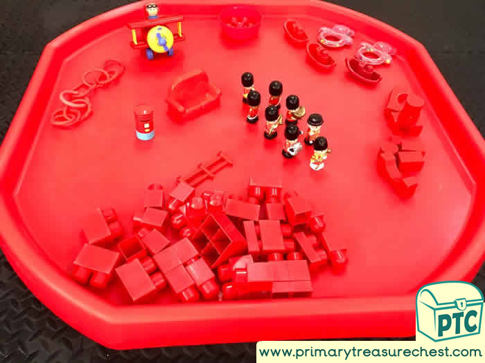 RED Themed Construction Play  Activity ideas - Role Play  Sensory Play - Tuff Tray Ideas Early Years – Tuff Spot / Nursery / Primary