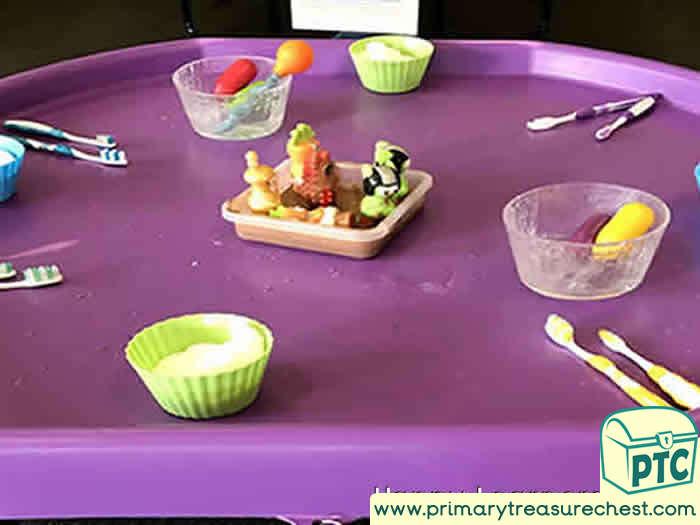 SPACE   Moon mud science investigation -  Role Play Sensory Play - Tuff Tray Ideas Early Years / Nursery / Primary