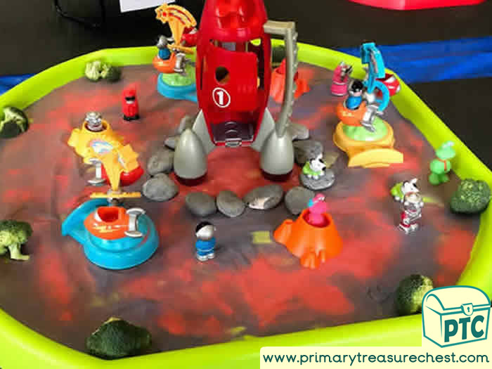 Sparkling Space Themed Tuff Tray for Toddlers-EYFS Children