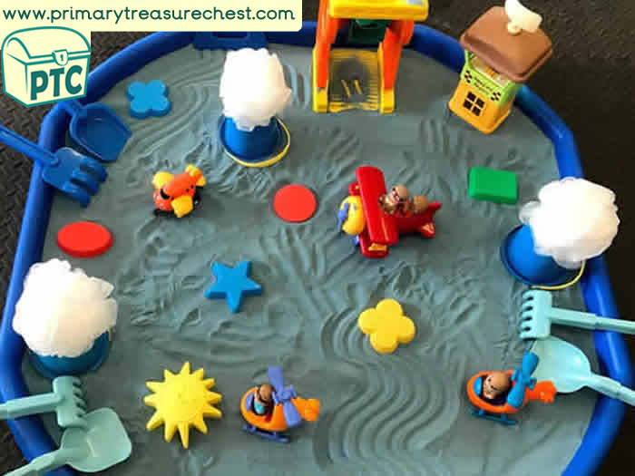 Sand Play Up in the Sky Planes Small World