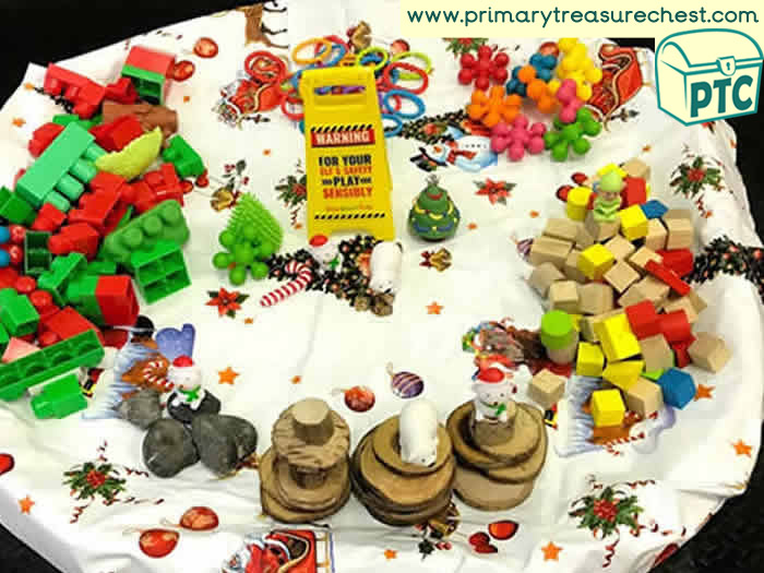 Christmas Winter Themed Tuff Trays Primary Treasure Chest