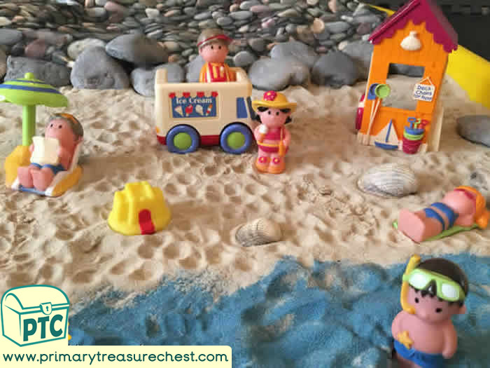 Seaside At the Beach Tuff Tray Small World Scene -EYFS Children