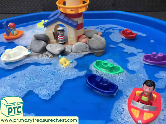Seaside Tuff Tray Small World Scene -EYFS Children