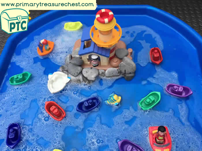 Seaside Themed Tuff Tray Resources And Ideas Primary