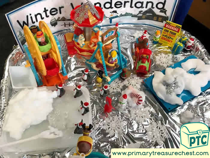 Winter Wonderland School based session tuff tray for Toddlers-EYFS Children