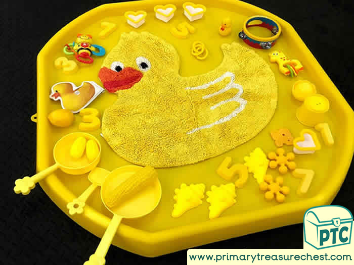 Yellow Themed Music and book Area    Activity ideas - Role Play  Sensory Play - Tuff Tray Ideas Early Years – Tuff Spot / Nursery / Primary