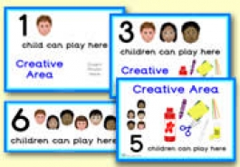 How Many Children... Creative Area Signs