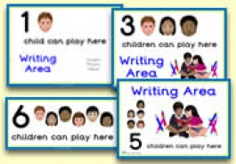 How Many Children... Writing Area Signs