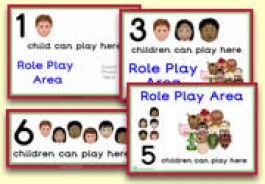 How Many Children... Role Play Area Signs