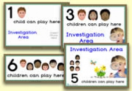 How Many Children... Investigation Area Signs