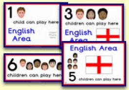 How Many Children... English Area Signs