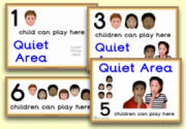 How Many Children... Quiet Area Signs