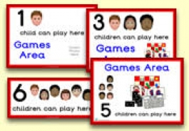 How Many Children... Games Area Signs