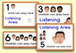 How Many Children... Listening Area Signs