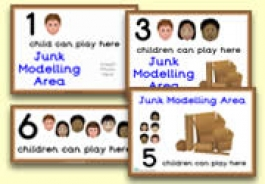 How Many Children... Junk Modelling Area Signs