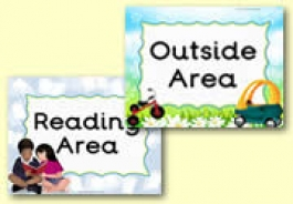 Area Signs / Classroom Signs