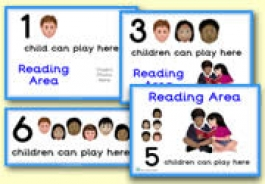 How Many Children... Reading Area Signs
