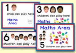 How Many Children... Maths Area Signs