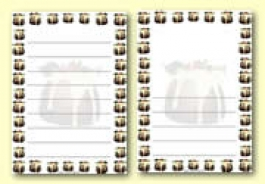 Christmas Themed Page Borders / Writing Frames