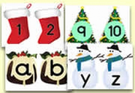 Christmas Themed Number Lines