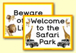African Safari Role Play Resources