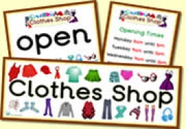 Clothes Shop Role Play Resources