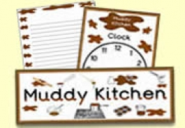 Mud Pie / Muddy Kitchen Role Play Resources