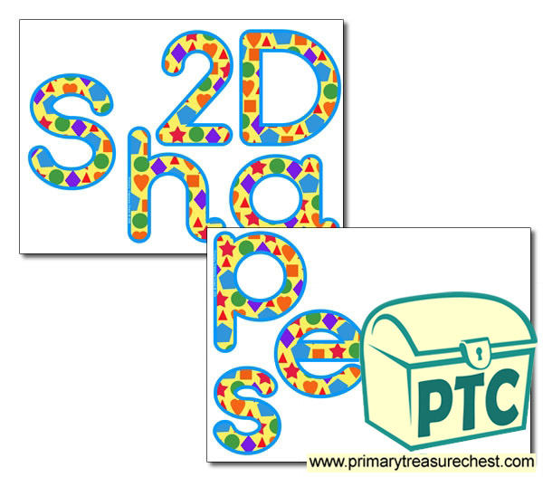 Display Letters '2D Shapes'