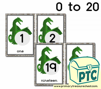 Dragon Themed Number line 0-20