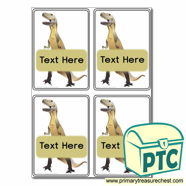 Dinosaur - Tyrannosaurus rex Themed Registration Name Cards