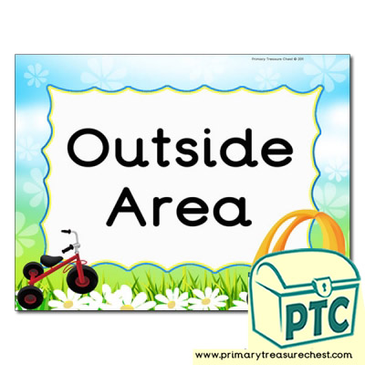 Outside area Classroom sign