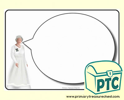 Queen Themed Speech Bubble Worksheet