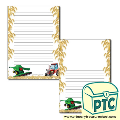 Harvesting Page Border/Writing Frame (narrow lines)