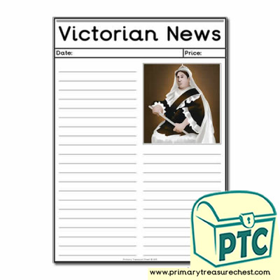 Queen Victoria Themed Newspaper Worksheets
