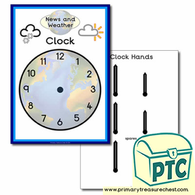 News Desk and Weather Forecasting Role Play clock