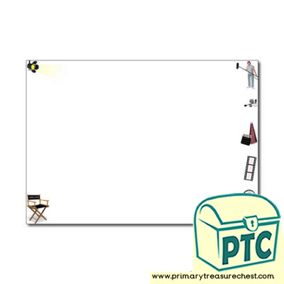 Film Studio Themed Landscape Page Border/Writing Frame (no lines)
